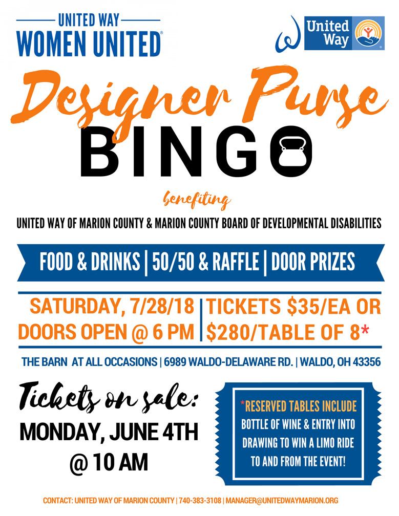 Designer Purse Bingo Flyer